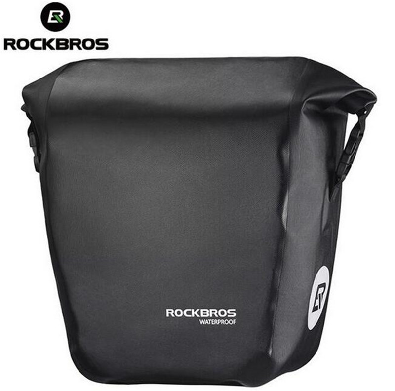 ROCKBROS 18L MTB Bicycle Rear Rack Bag Bicycle Accessories Bike Saddle Carries Basket Bag Cycling Trunk Travel Storage Bag bicycle basket 70l cycling bicycle bag bike double side rear rack tail seat trunk bag pannier with rain cover