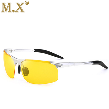 2019 Aluminum Magnesium Men Sunglasses Polarized Sports Driving Night Vision Goggles Sunglass Fishing UV400 Rimless Sun Glasses