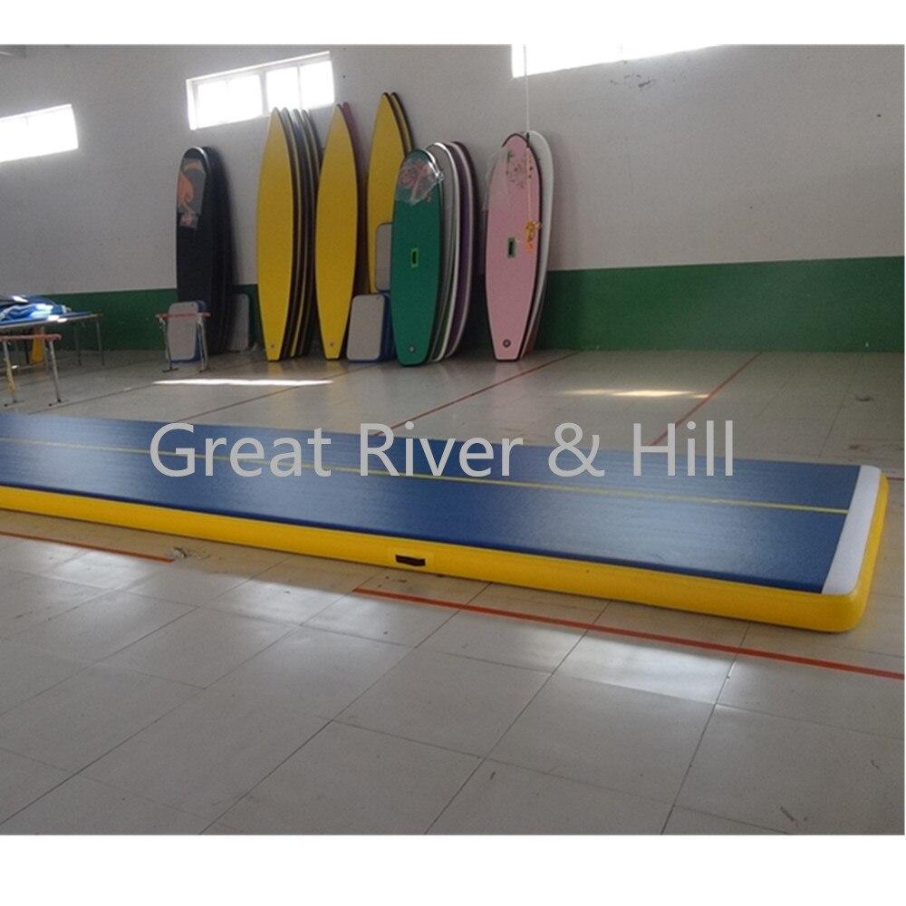 Великие реки и Хилл обучение коврики воздуха трек хорошая эластичность для гимнастика акробатика с FedEx Доставка и налог 5 м x 2 м x 20 см