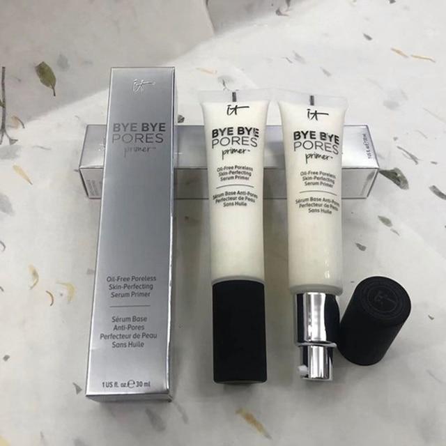 It Cosmetics Makeup Primer Cream Bye Bye Pore Moisturizing Hydration Oil-Control Eyes Skin Brighten Make Up Base 2