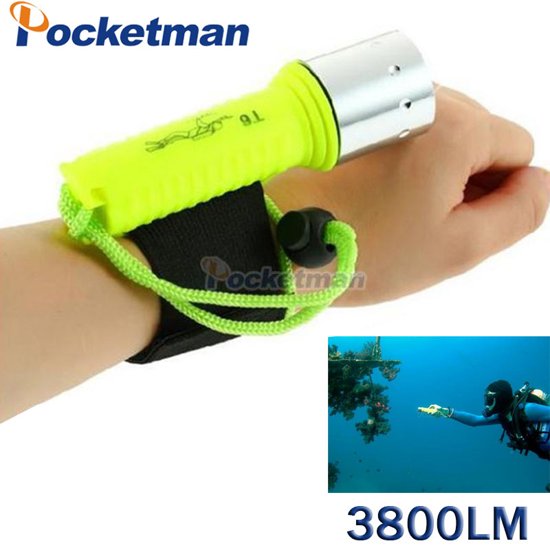 3800 Lumens LED Diving Flashlight Lantern XM-L T6 Waterproof Underwater Scuba Flashlight Torch Light Lamp Diver ZK92