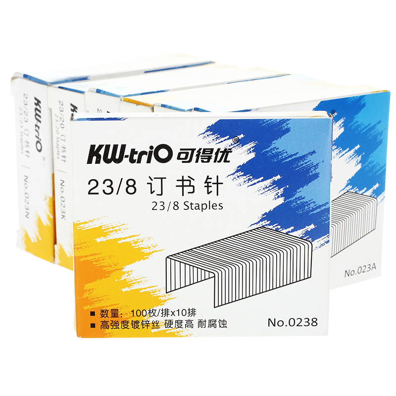 Heavy Duty Staples 23/8 1000 Count/box Silver Metal School Office Standard Metal Staples Office School Supplies KW - 0238 23 / 8 deli 0394 heavy duty stapler office supplier for 15 80 papers 70g paper with 23 6 23 13 staple retail paking