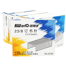 hot deal buy heavy duty staples 23/8 1000 count/box silver metal school office standard metal staples office school supplies kw - 0238 23 / 8