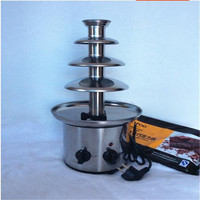 110V 220V 4 Tiers 46cm Fantanstic Stainless Steel Chocolate Fountain Machine Fondue Event Exhibition Wedding Birthday