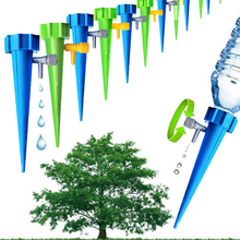 1 pc 정원 콘 게으른 자동 급수 씨앗 스파이크 조절 밸브 식물 꽃 waterers 병 관개 실용 스프링 쿨러 x