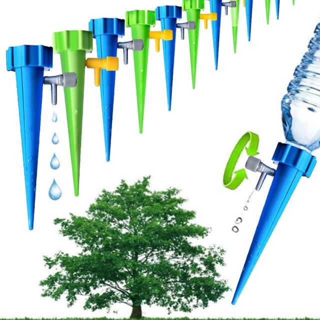 1Pc Tuin Cone Lazy auto Bewateren kwel Spike verstelbare klep Plant Bloem Waterers Fles Irrigatie Praktische Sprinkler X