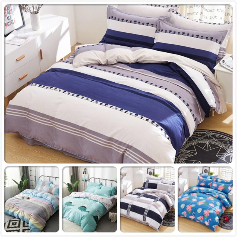 Consice Couple Big Double Size Duvet Cover 4pcs Bedding Set Kids Child Soft Cotton 3pcs Bed Linen 1.35m 1.5m 1.8m 2m 2.2m Single