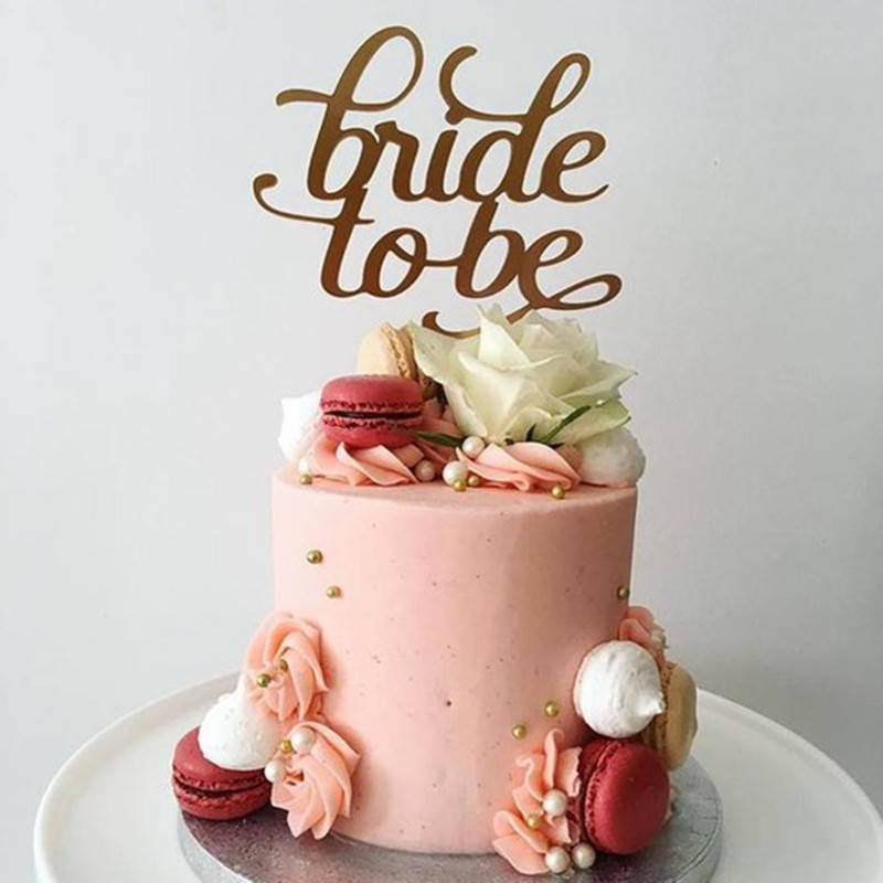 Bride To Be Ring Wedding Cake Topper Acrylic Rose Gold ...