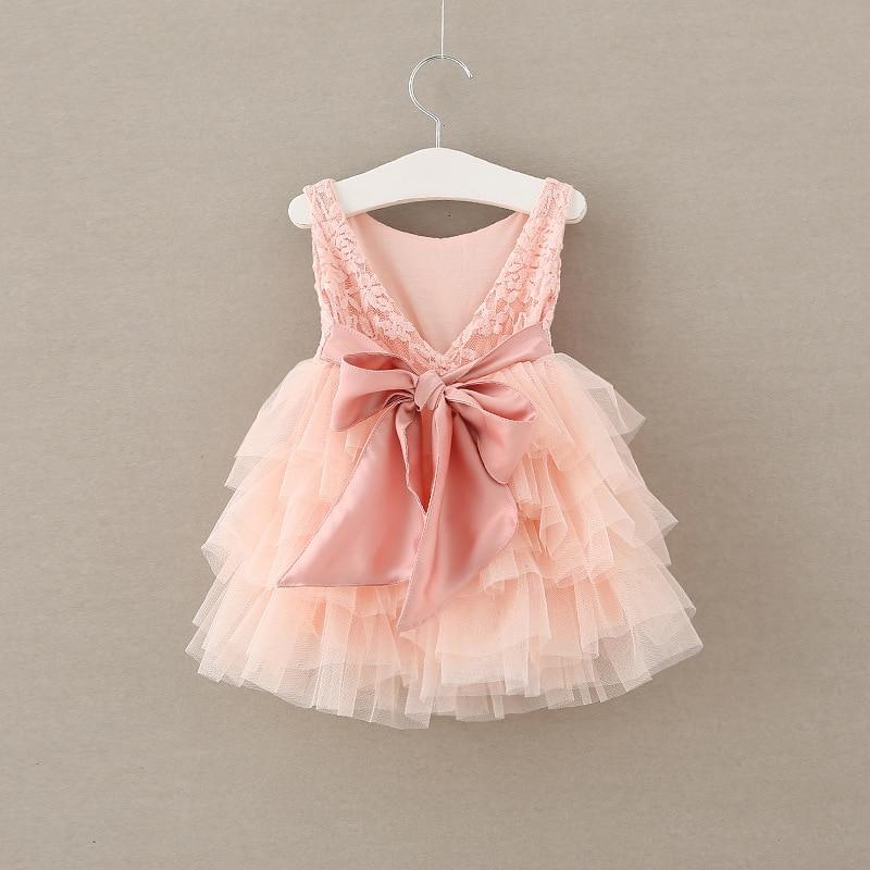 Autumn Party Kids Boutiques Flower Bow Lace Clothes Children Ball Gown Clothing Baby Girls Princess Floral Dresses 5pcs/LOT