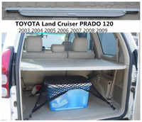 For TOYOTA Land Cruiser PRADO 120 2003-2009 Rear Trunk Cargo Cover Security Shield Screen shade High Qualit Car Accessories