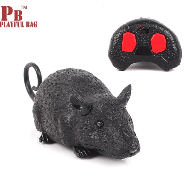 pb playful bag 2018 New mouse simulation  remote control mouse model toy electric teasing children toy