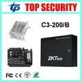 RFID карты система управления дверца с батареей функции питания коробка ZK TCP/IP С3-200 2 двери доступ к панели управления