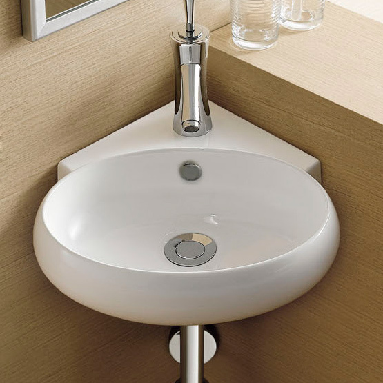 Keramik dinding tergantung baskom mandi basin hanging wall mount wastafel wastafel sudut kecil - Toilet wastafel ...