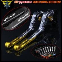 ! С Логотип ЧПУ Золотой Мотоцикл Тормозные Рычаги Сцепления Для Honda CB599/CB600 HORNET 1998-2006 1999 2000 2001 2002 2003 2004 2005