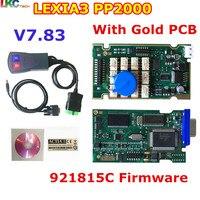 10pcs Lot DHL Free Newest Lexia3 With 921815C Firmware Golden PCB Lexia PP2000 Lexia 3 Diagbox