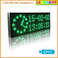 30x11inch Green Multi line display LED Sign Board usb Programmable Display Scrolling Advertising Business Sign