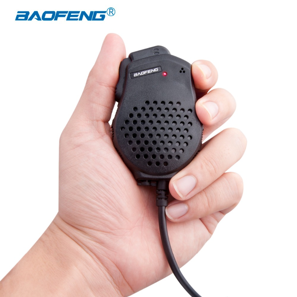 Handheld Microphone Special For Walkie Talkie Baofeng UV-82 Dual PTT Button Radio Station Extension Speaker K Port CB Radio Mic