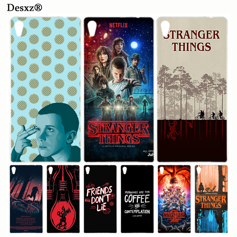 Desxz stranger things Cover phone Case for sony xperia z2 z3 z4 z5 mini plus aqua M4 M5 E4 E5 C4 C5 XA