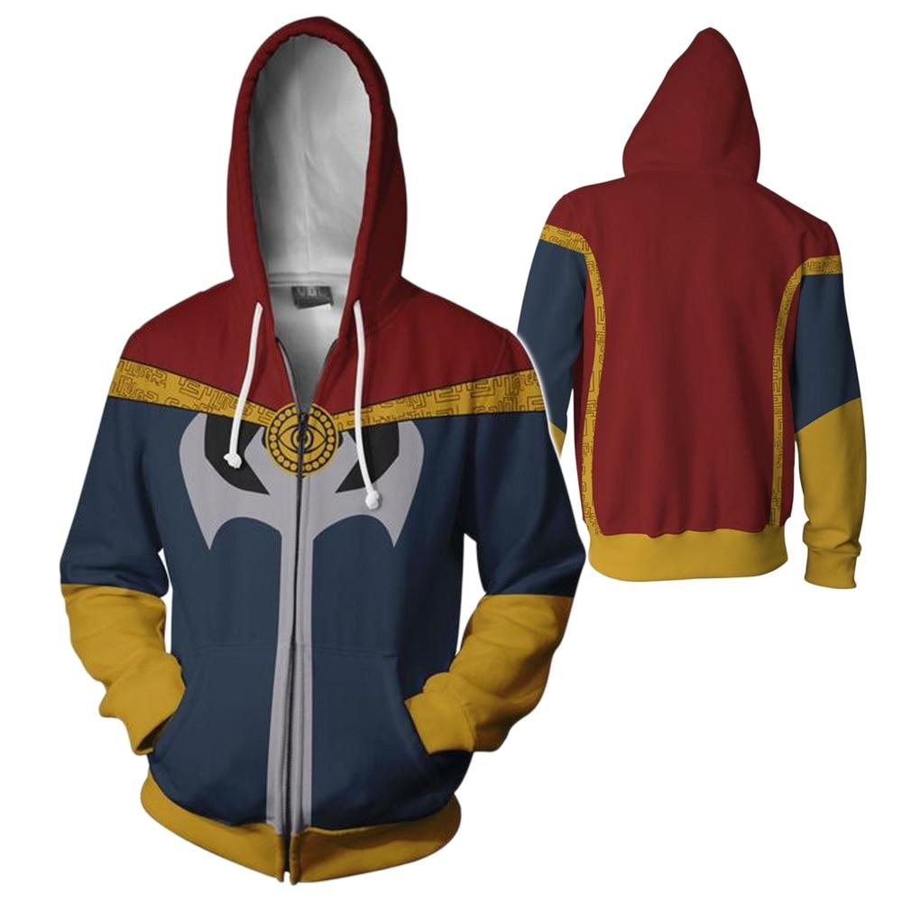 Doctor Strang Hoodies Men Women 3D Printed Sweatshirt Superhero Adults Long Sleeve Zipper Hooded Pullovers Hip Hop Streetwear