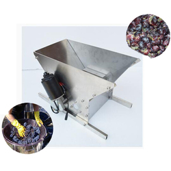 Double/Single Roller Red Wine Brewing Grape Crusher Stainless Steel Electric Juice Grape Press Machine Accessories Tool 220V 96W