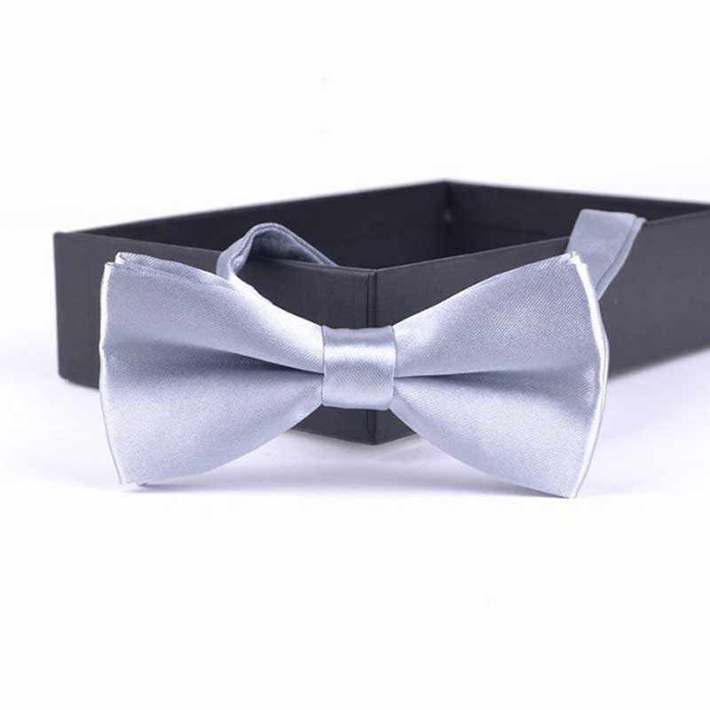 Novedad niños moda Formal comercial clásico Color sólido mariposa Bowtie puro bolsillo cuadrado chico traje boda fiesta Rojo Negro