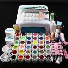 FT-111  New Pro 36W UV GEL  Lamp & 36 Colors UV Gel Nail Art Tools Sets Kits UV gel kit lamp kit