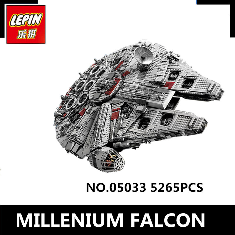 HH Block Store LEPIN 05033 5265pcs Star Wars Ultimate Collector's Millennium Falcon Model Building Kit Blocks Bricks Toy Compatible 10179
