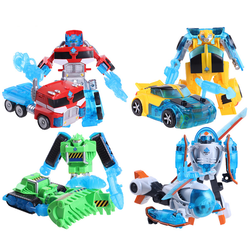 Rescue Bots Deformation Robot Action Figures Bumblebee/Optimus/Bulldozer/Helicopter Robots Transformation toy
