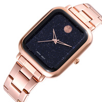 WEIQIN Starry Sky Universe Luxury Brand Women's Watches Rectangle Stainless Steel Bracelet Quartz Watch Ladies Dress Wristwatch