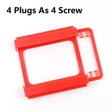 От 2,5 до 3,5 дюймов SSD HDD Монтажный пластиковый адаптер с 4 вилками в качестве винта