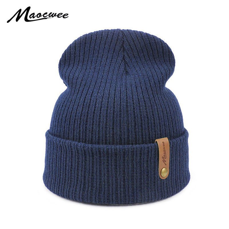 Women Men Crochet   Beanie   Hat Soft Warm Cap Autumn Winter Female Unisex Adult Knitted Solid Color Green Black Casual   Skullies   Hat