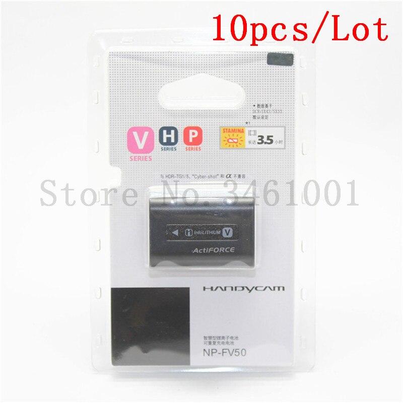 10pc lot NP FV50 Battery NP FV50 Batteries For SONY HDR XR550E XR350E CX550E CX350E CX150E