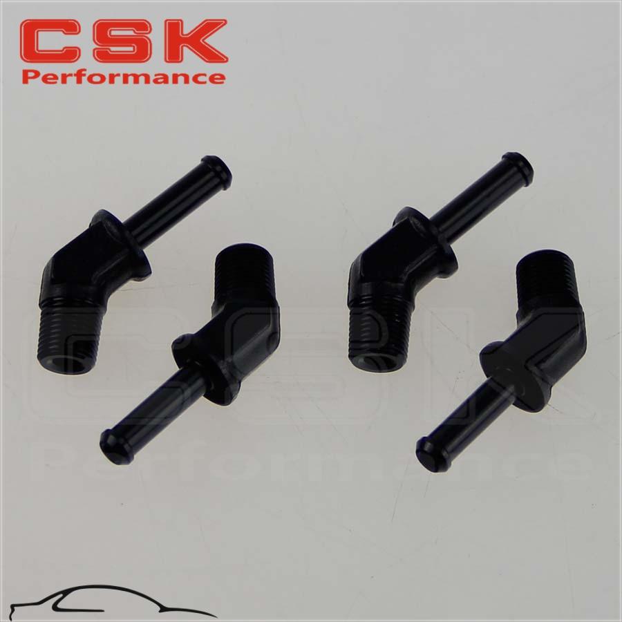 An8 8an an 8 45 degree reusable swivel ptfe hose end - 4pcs Aluminum 3 8 Npt Male 45 Degree To 1 2 Hose