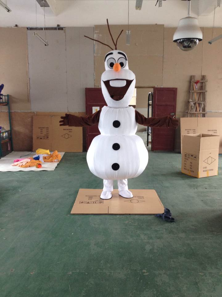 Adult New Smiling Olaf Mascot Costume Snowman Clothing  Cartoon Character Costume
