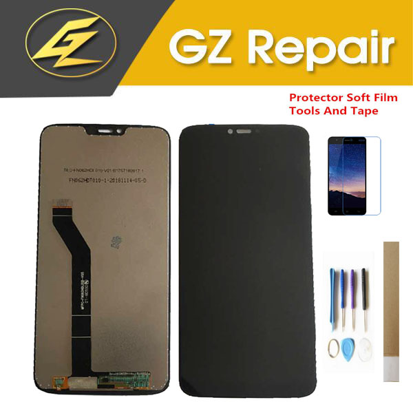 6.2 pouces pour Motorola Moto G7 affichage LCD de puissance avec capteur tactile verre Digiziter couleur noire de haute qualité avec Kits