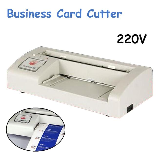 220 V Carte De Visite Cutter Lectrique Automatique Dcoupeuse Papier Machine Dcoupe BRICOLAGE