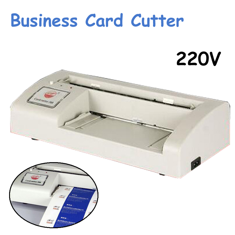 220V Business Card Cutter Electric Automatic Slitter Paper Card Cutting machine DIY Tool A4 and Letter Size 300B  round slitter blades for paper manufacturing and converting