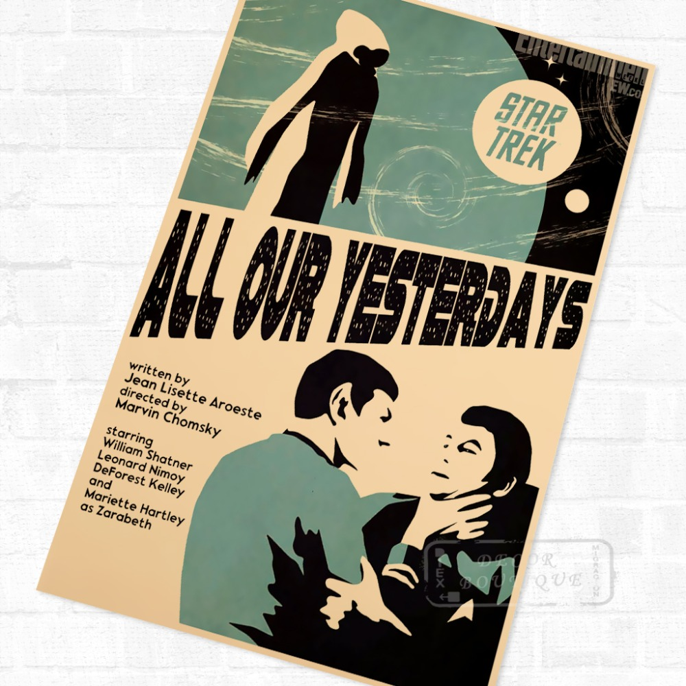 All Our Yesterdays Star Trek Vintage Sci Fi Movie Poster Retro ...