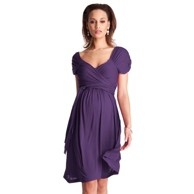 Плюс Размеры Одежда для беременных Для женщин элегантные платья для беременных жилет с коротким рукавом платья офисные вечерние коктейльн...