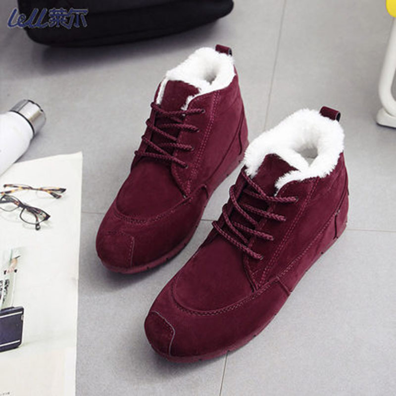 2018 Winter Platform Boots Women Boots Super Warm Winter Casual Shoes Women Suede Ankle Boots For Women