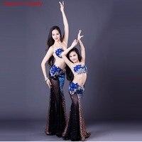Custom Made Upscale Belly Dance for Children/adult Belly Dance Spandex Costume Set Dress for Girl /Women Dance Costume