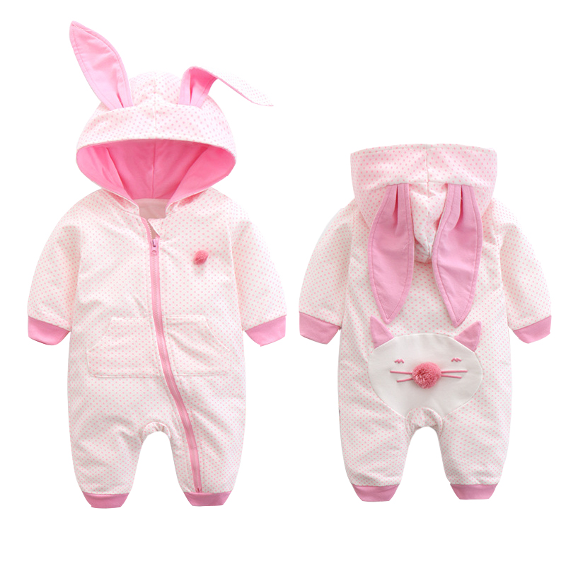 Baby girls romper rabbit kids rompers Spring And Autumn Pure Cotton Clothing Baby Boys Girls Long Sleeves Cute Cartoon Jumpsuit baby hoodies newborn rompers boys clothes for autumn hooded romper cotton jumpsuit child kids costumes girls clothing