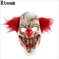 Nova Engraçado Do Dia Das Bruxas Carnaval Páscoa Traje Palhaço palhaço Máscara Assustador Mal Assustador Halloween Cosplay Máscara de Palhaço Máscara Facial