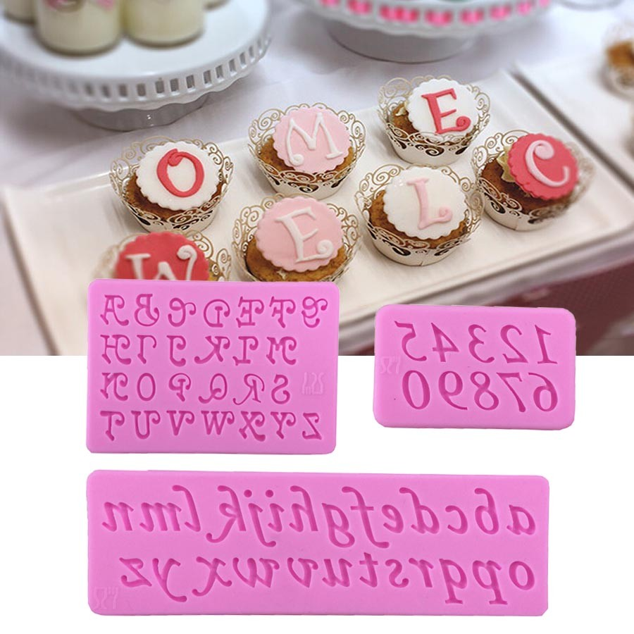 Cake Decorations Letters And Numbers : ?3 pcs/set Capital and and Small English Letters Numbers ...