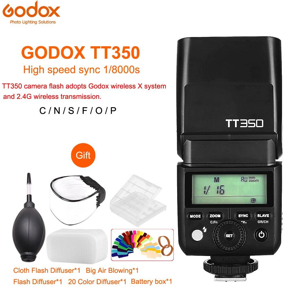 GODOX Flash TT350 Mini Flash Light 2 4G Wireless HSS TLL 1 8000s Speedlite for Canon