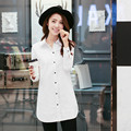 Новые Поступления 2016 Горячие Продажа Мода & Casual Весна и падение Блузки Корейских Женщин С Длинными Рукавами Рубашки Темперамент Рубашка 903i 30