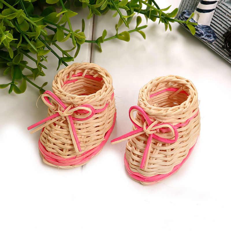 Criativo Mini Único Sapatos de Tecido Cesta De Armazenamento Bonito Planta Moda Enfeites de Maquiagem Caixa de Armazenamento de Detritos de Desktop Em Casa Decoração