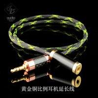 SLK Proporción Áurea de Cobre de Audio Estéreo de 3.5mm Para Auriculares Cable de Extensión de Cable de Alta Fidelidad