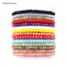Браслет из бисера ручной работы, женский браслет, Простой Модный высококачественный браслет из хрустальных бусин, 14 цветов, ювелирные изделия дружбы