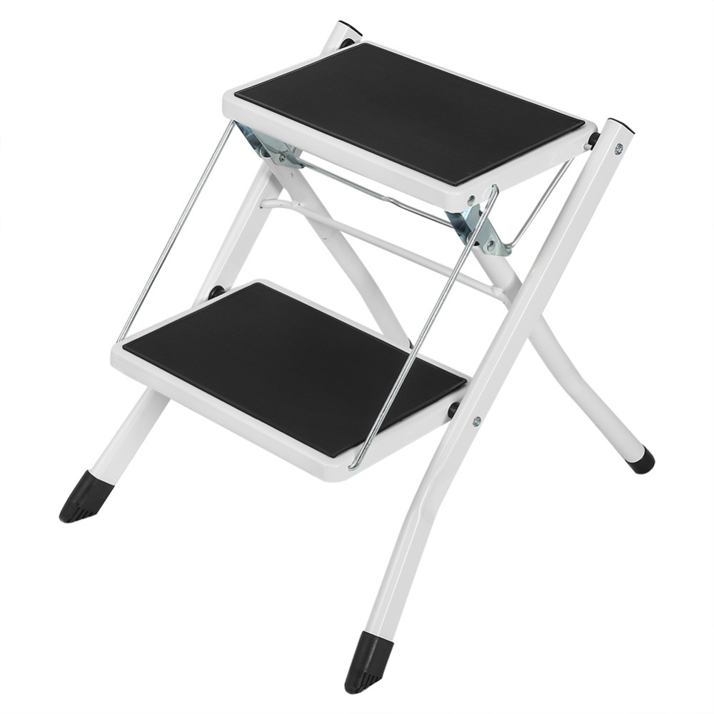 Anti Slip 2 Tread Safety Step Ladder Folding Step Stools With Tool ...